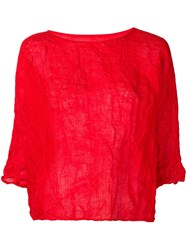 Daniela Gregis Wrinkled Effect Blouse Red