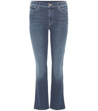 Mother The Rascal Ankle Snippet Jeans Blue