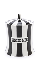 Jonathan Adler White Lies Canister Black White