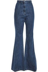 Michael Kors Collection Woman High Rise Flared Jeans Mid Denim