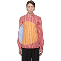 Kenzo Red And Orange Striped Dots Shirt