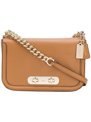 Coach Swagger Satchel Bag Women Leather One Size Nude Neutrals