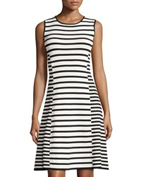 Catherine Catherine Malandrino Claire Striped Sleeveless Fit And Flare Dress Black Fresh Lily
