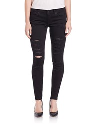 Lucky Brand Distressed Skinny Jeans Black
