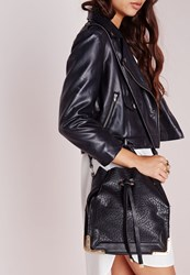 Missguided Metal Edge Square Base Duffle Bag Black Black