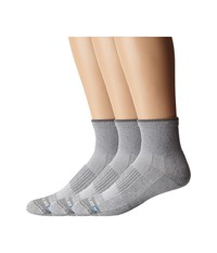 Drymax Sport Lite Hiking Quarter Crew 3 Pair Pack Grey Quarter Length Socks Shoes Gray