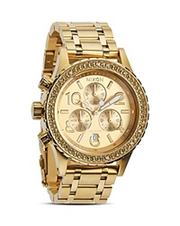 Nixon The 38 20 Chrono Watch 38Mm Gold Crystal