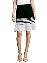 Saks Fifth Avenue Colorblock A Line Skirt Black Bleach