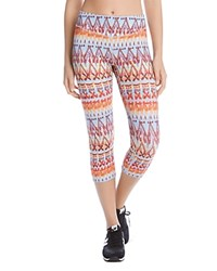Karen Kane Printed Cropped Leggings Tribal Hints