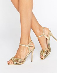 Asos Harlow Heeled Sandals Gold