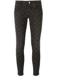 Stella Mccartney Embroidered Skinny Jeans Black