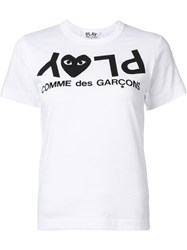 Comme Des Garcons Play 'Play' T Shirt White