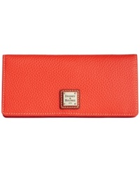 Dooney And Bourke Pebble Slim Wallet Persimmon