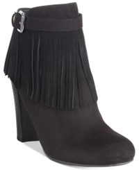 Material Girl Persia Fringe Dress Booties Only At Macy's Women's Shoes Black