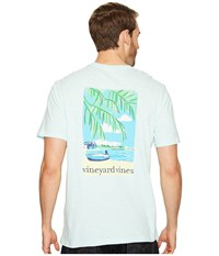 Vineyard Vines Short Sleeve Beach Time Slub T Shirt Crystal Blue Men's T Shirt