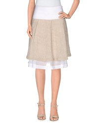 Brebis Noir Skirts Knee Length Skirts Women Beige
