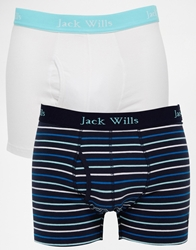 Jack Wills Chetwood Trunks 2 Pack Navy