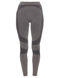Pepper And Mayne Seamless Trompe L'oeil Performance Leggings Dark Grey