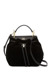 Vince Camuto Enzy Leather Drawstring Shoulder Bag Black