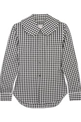 Comme Des Garcons Girl Gingham Cotton Poplin Shirt Black