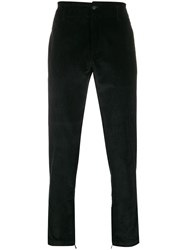 Salvatore Ferragamo Corduroy Slim Trousers Black