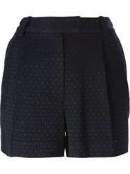3.1 Phillip Lim Woven Beaded Shorts Blue