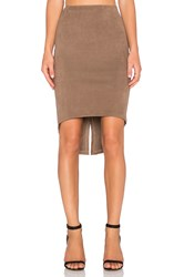 Level 99 Elle Tuxedo Skirt Brown