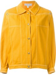 Celine Vintage Oversized Jacket Yellow And Orange