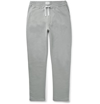 Oliver Spencer Loungewear Cotton And Cashmere Blend Sweatpants Gray