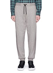 Mcq By Alexander Mcqueen Logo Embroidered French Terry Sweatpants Grey