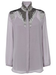 Raishma Beaded Shirt Grey