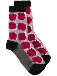 Paul Smith Rose Pattern Socks Red