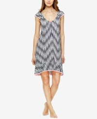 Ellen Tracy Flutter Sleeve High Low Nightgown Charcoal