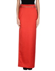 Just Cavalli Skirts Long Skirts Women Brick Red