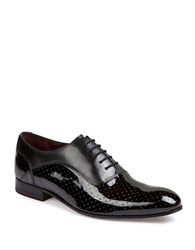 Ted Baker Jeick Patent Leather Polka Dot Oxfords