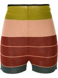 Jean Paul Gaultier Vintage Striped Knitted Shorts Multicolour