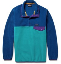 Patagonia Snap T Colour Block Synchilla Fleece Pullover Cobalt Blue