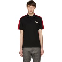 Alexander Mcqueen Black And Red Panelled Polo