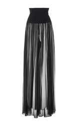 Monique Lhuillier High Waisted Palazzo Pant Black