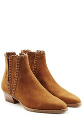 Michael Kors Collection Suede Ankle Boots Brown