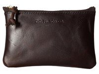 Filson Small Leather Pouch Brown Handbags