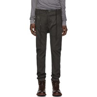 Boris Bidjan Saberi Grey Double Dyed Jeans