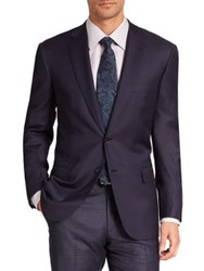 Brioni Solid Tailored Wool Jacket Navy