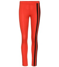 Y 3 Cotton Blend Leggings Red