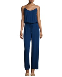 Haute Hippie Sleeveless Wide Leg Jumpsuit Prussian Blue