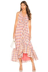 Free People Rainbow Dreams Maxi Dress Pink