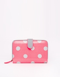 Cath Kidston Folded Zip Wallet W Leather Neonpink