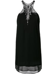 Marcelo Burlon County Of Milan Wings Embroidered Dress Black