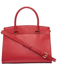 Dkny Medium Leather Satchel Created For Macy's Bright Red