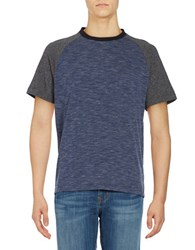 Kenneth Cole Contrast Raglan Tee Indigo Heather